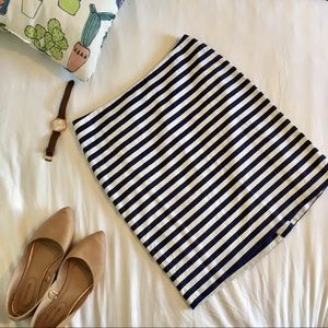 Talbots Striped Pencil Skirt